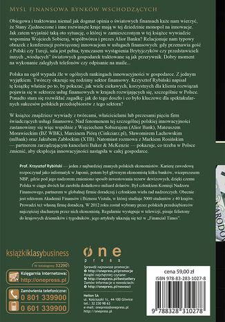 Tył okładki książki/ebooka Królowie innowacji w usługach finansowych
