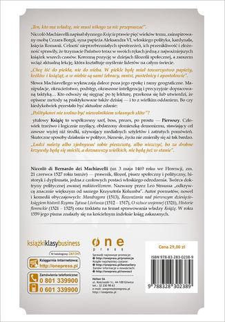 Tył okładki książki/ebooka Książę