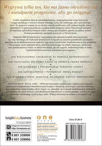 Tył okładki książki/ebooka Księga motywacji, inspiracji i magii Napoleona Hilla