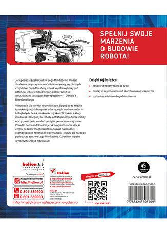 Tył okładki książki/ebooka Laboratorium LEGO Mindstorms EV3. Buduj, programuj i eksperymentuj