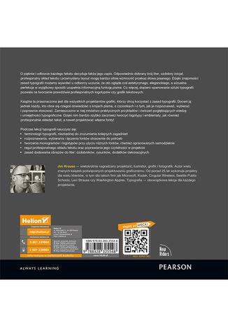Tył okładki książki/ebooka Lekcje typografii. Przykłady i ćwiczenia dla projektantów