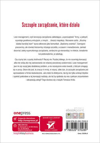 Tył okładki książki/ebooka Lean management po polsku. Wydanie II
