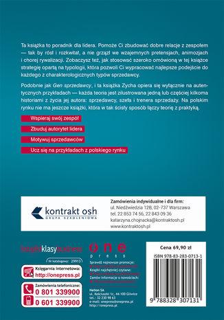 Tył okładki książki/ebooka Lider sprzedaży. Jak angażować handlowców w aktywną sprzedaż