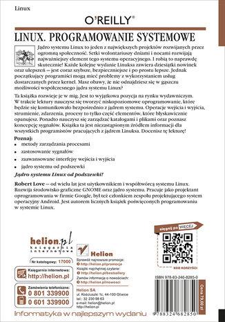 Tył okładki książki/ebooka Linux. Programowanie systemowe. Wydanie II