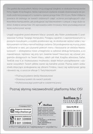 Tył okładki książki/ebooka Mac OS X 10.7 Lion. Podręcznik