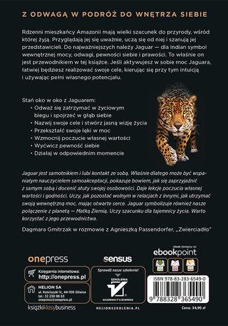 Tył okładki książki/ebooka Trening Jaguara. Obudź w sobie pewność siebie i osiągaj zamierzone cele. Wydanie II rozszerzone