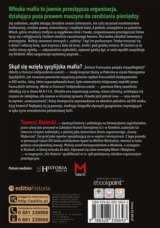 Tył okładki książki/ebooka Krótka historia mafii sycylijskiej