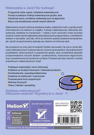 Tył okładki książki/ebooka Matematyka dla programistów Java