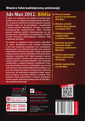 Tył okładki książki/ebooka 3ds Max 2012. Biblia