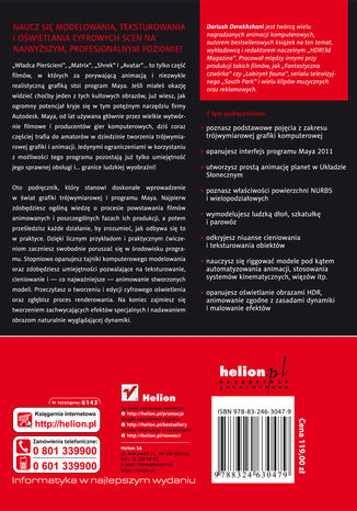 Tył okładki książki/ebooka Maya 2011. Wprowadzenie