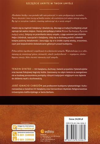 Tył okładki książki/ebooka Medytacja nad naturą umysłu