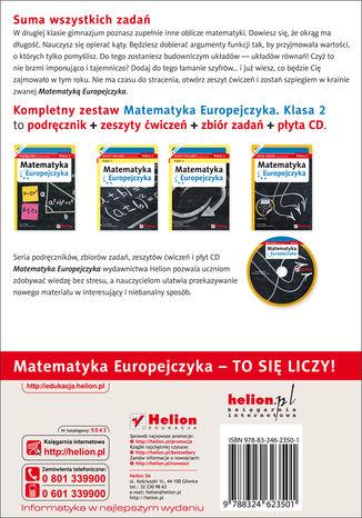 Tył okładki książki/ebooka Matematyka Europejczyka. Zeszyt ćwiczeń dla gimnazjum. Klasa 2. Część 1
