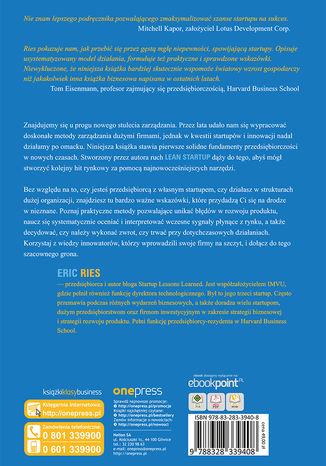 Tył okładki książki/ebooka Metoda Lean Startup. Wykorzystaj innowacyjne narzędzia i stwórz firmę, która zdobędzie rynek