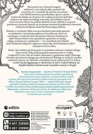 Tył okładki książki/ebooka Mimochodem o chodzeniu