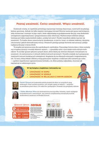 Tył okładki książki/ebooka Mindfulness dla dzieci. Poczuj radość, spokój i kontrolę