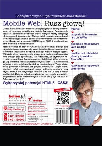 Tył okładki książki/ebooka Mobile Web. Rusz głową!