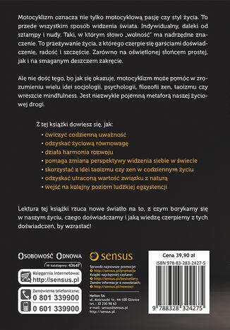 Tył okładki książki/ebooka Motocyklizm. Droga do mindfulness