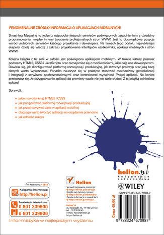 Tył okładki książki/ebooka Mobile Web Development. Smashing Magazine