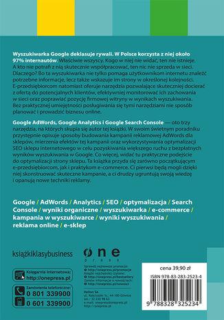 Tył okładki książki/ebooka Narzędzia Google dla e-commerce