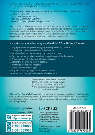Tył okładki książki/ebooka Nawyk wytrwałości. Jak go wykształcić metodą małych kroków