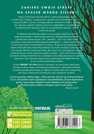 Tył okładki książki/ebooka Nerwy w las. Jak odnaleźć spokój i radość życia