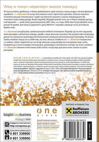 Tył okładki książki/ebooka NewConnect - nowa szansa na duże zyski. Wydanie II zaktualizowane