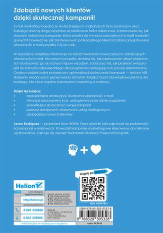 Tył okładki książki/ebooka Nowoczesny e-mail marketing. Uniwersalny, responsywny i skuteczny mailing w HTML-u