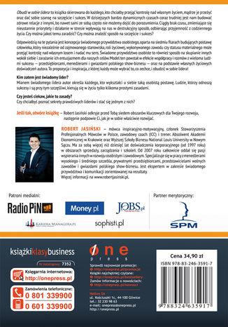 Tył okładki książki/ebooka Obudź w sobie lidera. Jak przejąć kontrolę nad swoim życiem i odnieść sukces