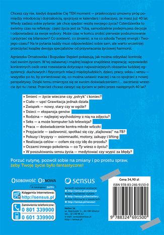 Tył okładki książki/ebooka Fantastyczna czterdziestka! Poradnik pozytywnego życia