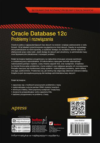 Tył okładki książki/ebooka Oracle Database 12c. Problemy i rozwiązania