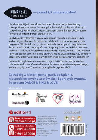 Tył okładki książki/ebooka Dance, sing, love. Miłosny układ