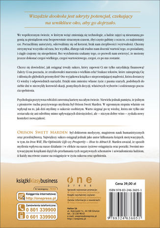 Tył okładki książki/ebooka O sukcesie
