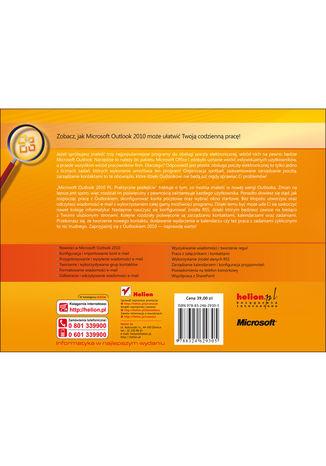 Tył okładki książki/ebooka Microsoft Outlook 2010 PL. Praktyczne podejście