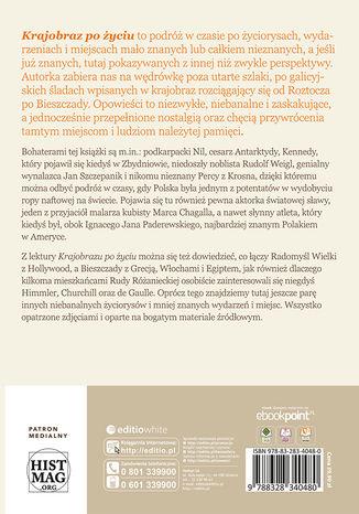 Tył okładki książki/ebooka Krajobraz po życiu. Śladami Galicji. Opowieści o ludziach i miejscach