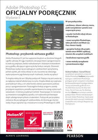Tył okładki książki/ebooka Adobe Photoshop CC. Oficjalny podręcznik. Wydanie II