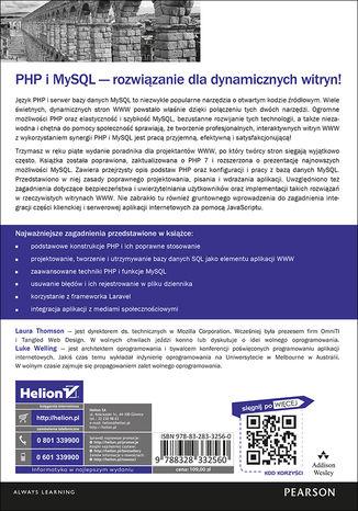 Tył okładki książki/ebooka PHP i MySQL. Tworzenie stron WWW. Vademecum profesjonalisty. Wydanie V