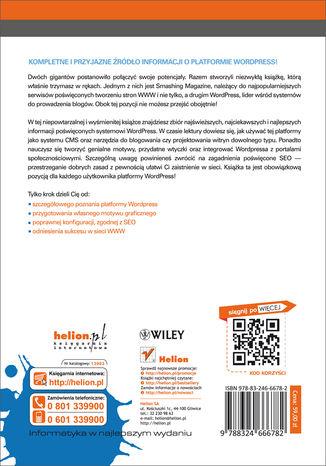 Tył okładki książki/ebooka Podręcznik WordPressa. Smashing Magazine
