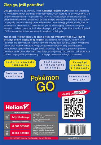 Tył okładki książki/ebooka Pokémon GO. Ukryte oblicze Twojego miasta