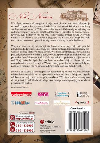 Tył okładki książki/ebooka Pokolenia. Wiek deszczu, wiek słońca