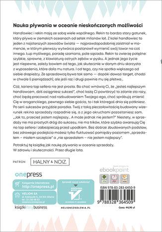 Tył okładki książki/ebooka Poradnik Rekinów Sprzedaży. Jak zostać top sellerem i nie zwariować