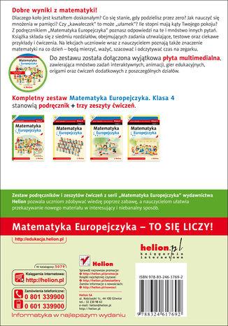 Tył okładki książki/ebooka Matematyka Europejczyka. Podręcznik dla szkoły podstawowej. Klasa 4