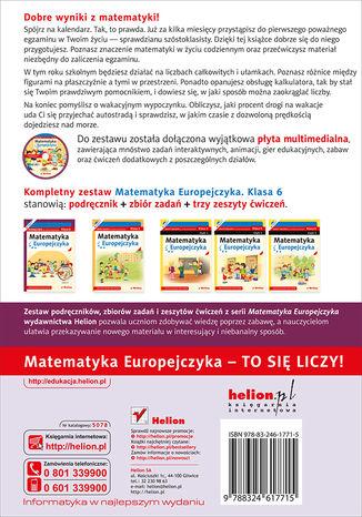Tył okładki książki/ebooka Matematyka Europejczyka. Podręcznik dla szkoły podstawowej. Klasa 6