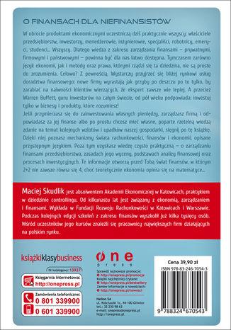 Tył okładki książki/ebooka Podstawy finansów i rachunkowości. Podręcznik dla menedżerów
