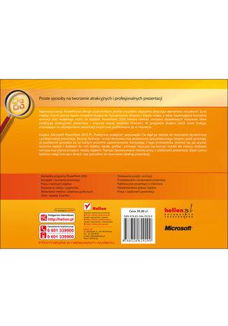 Tył okładki książki/ebooka Microsoft PowerPoint 2010 PL. Praktyczne podejście