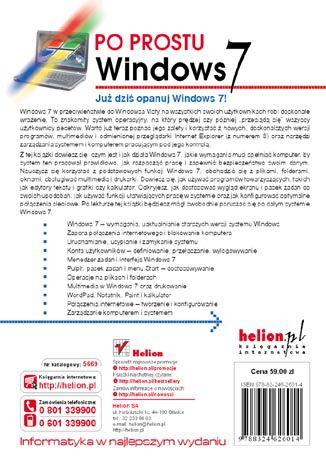 Tył okładki książki/ebooka Po prostu Windows 7