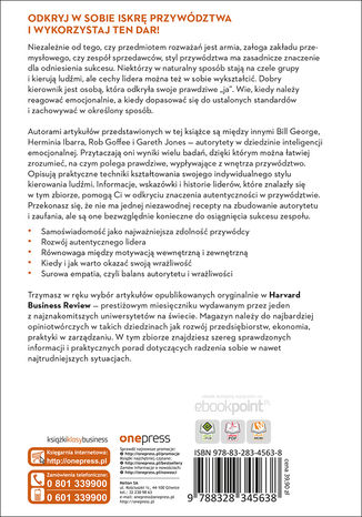 Tył okładki książki/ebooka Prawdziwe przywództwo. Inteligencja emocjonalna. Harvard Business Review