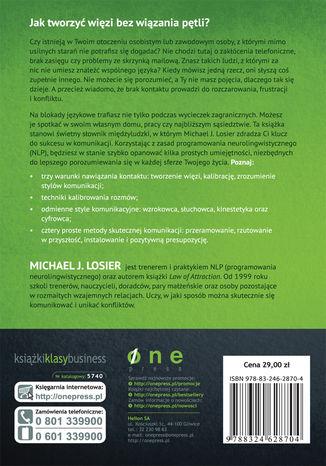 Tył okładki książki/ebooka Prawo Więzi. Jak się dogadać i stworzyć doskonałe relacje prywatne i zawodowe
