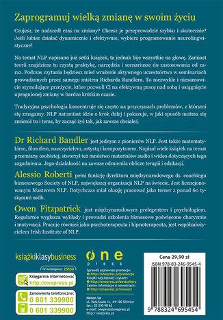 Tył okładki książki/ebooka Przejmij kontrolę nad swoim życiem. Przewodnik po NLP
