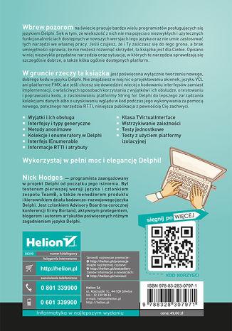 Tył okładki książki/ebooka Programowanie w języku Delphi