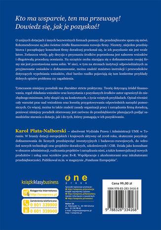 Tył okładki książki/ebooka Projekty z dotacją. Podręcznik konsultanta, wnioskodawcy i beneficjenta